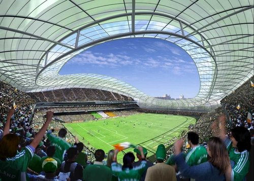 An artist's impression of the view from inside the proposed new Lansdowne Road