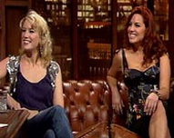 Pamela Flood and Caroline Morahan