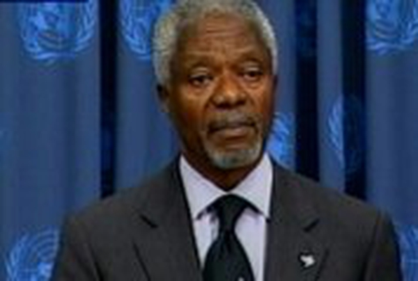 Kofi Annan - Launches laptop for developing nations