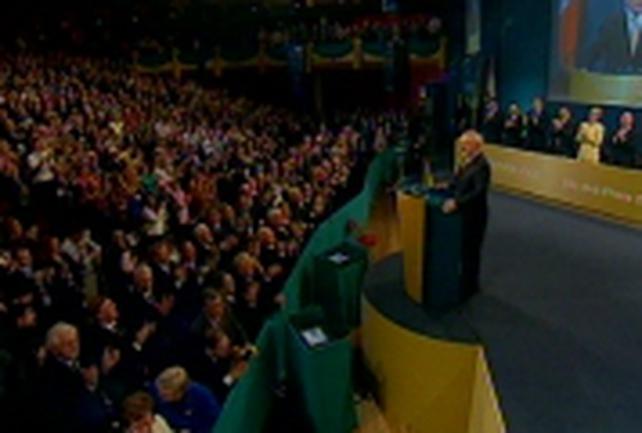 Fianna Fail Ard Fheis - Ahern stresses Govt record in office