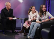 Ray D'Arcy with Rachel and Ruth Andrews