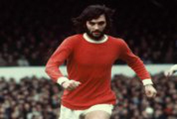 George Best pictured in his prime with Manchester United