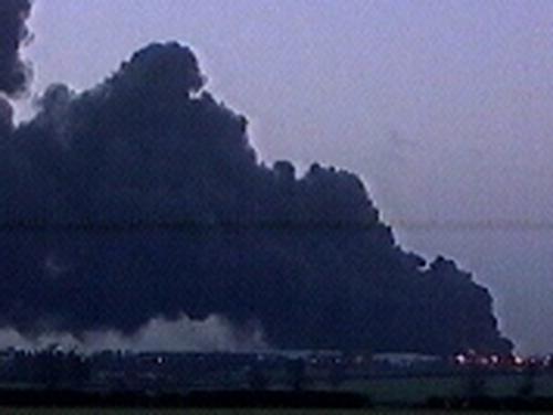 Buncefield - Oil depot fire