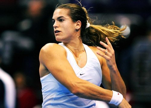 Defending champion Amelie Mauresmo fell at the quarter-final stage in Sydney