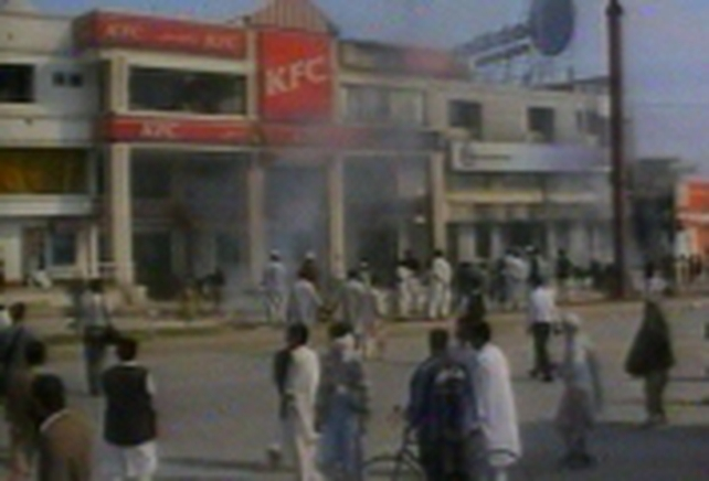 Pakistan - KFC restaurant attacked