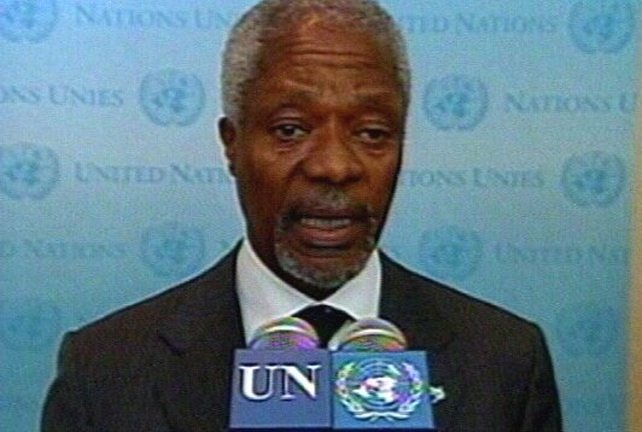 Kofi Annan - 'Immediate ceasefire needed'
