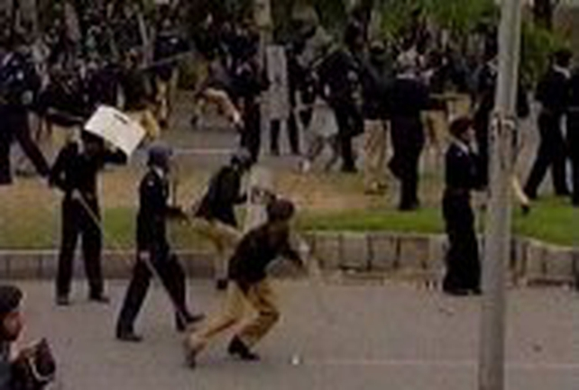 Islamabad - Police battle with protestors