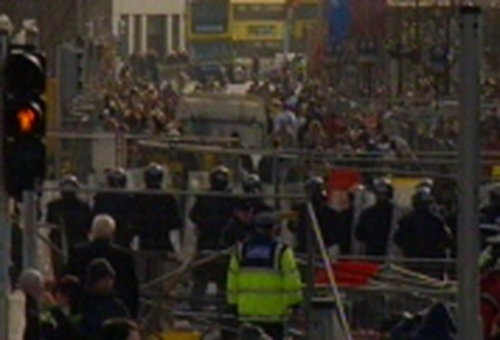 Dublin - 41 arrested over violent clashes