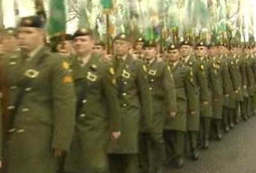 Military parade - Preparations for 1916 commemoration