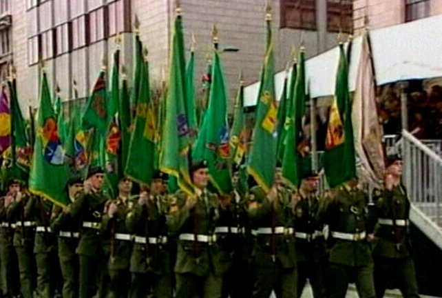 Colour party - Flags of every battalion