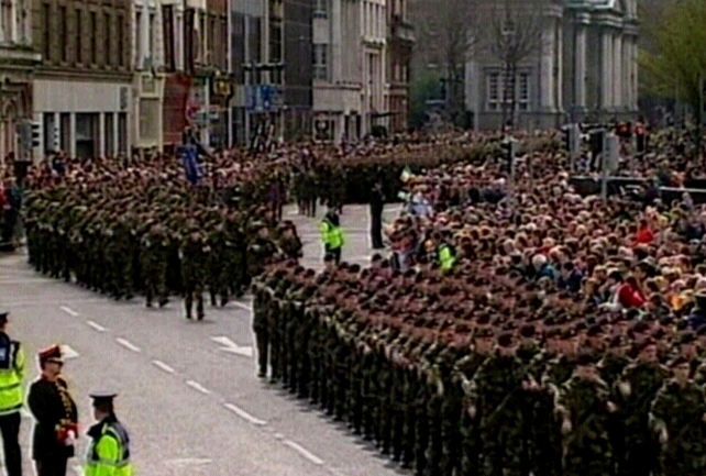 Infantry - Officers & men on parade