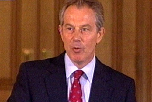 Tony Blair - Backs MI5 terror assessment