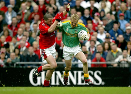 Graham Geraghty shook off the effects of a thump in the jaw to lead Meath to victory