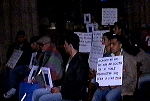 St Patrick's Cathedral - Afghan protest sit-in
