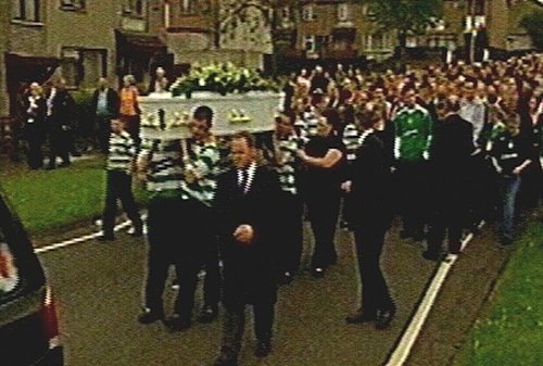 Ballymena, Co Antrim - Funeral of murdered teenager