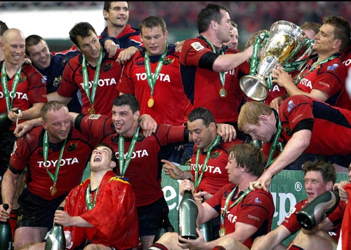 Munster won last season's Heineken Cup, but next season's competition is now in question