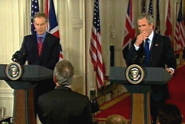 Tony Blair, George W Bush - Held talks in Washington