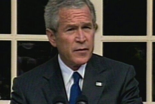 George W Bush - In Iraq visit yesterday