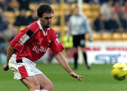 Brian O'Callaghan in his Barnsley colours