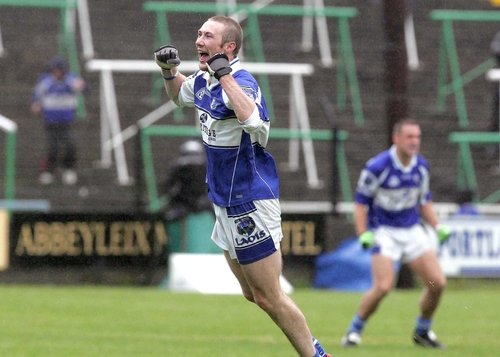 Billy Sheehan celebrates at the final whistle as Laois defeated Tyrone