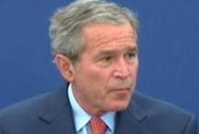 George W Bush - Syria must respect Lebanese sovereignty