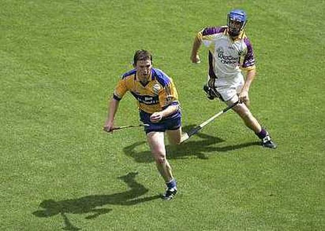 Goalscorer Diarmuid McMahon in flight