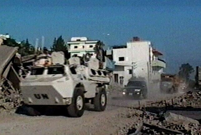 Qana - UN convoy reaches village