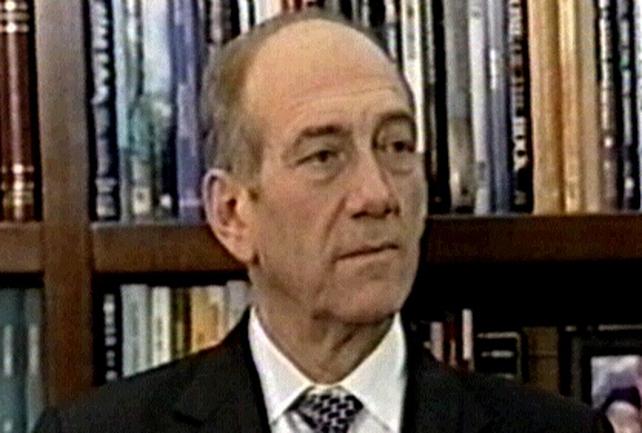 Ehud Olmert - Force should disarm Hezbollah