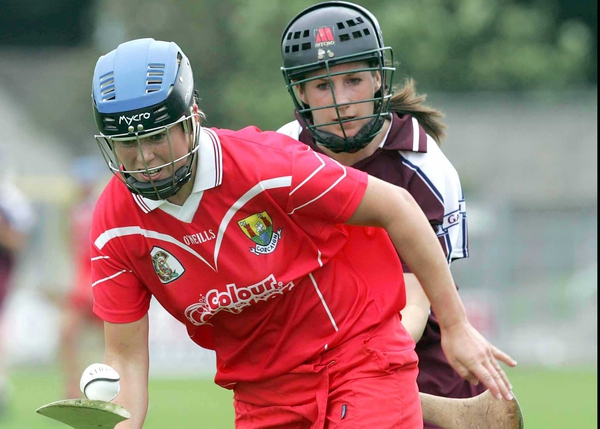 Cork's Emer Dillon escapes the attentions of Galway's Nicola Gavin