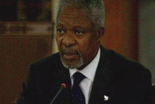Kofi Annan - Plea for peace in Middle East