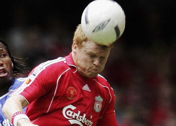 John Arne Riise escaped without injury