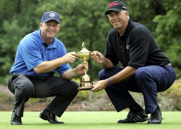 Will Ian Woosnam or Tom Lehman be taking the Ryder Cup home this evening?