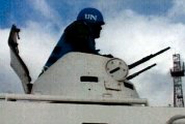 UN troops - To monitor ceasefire