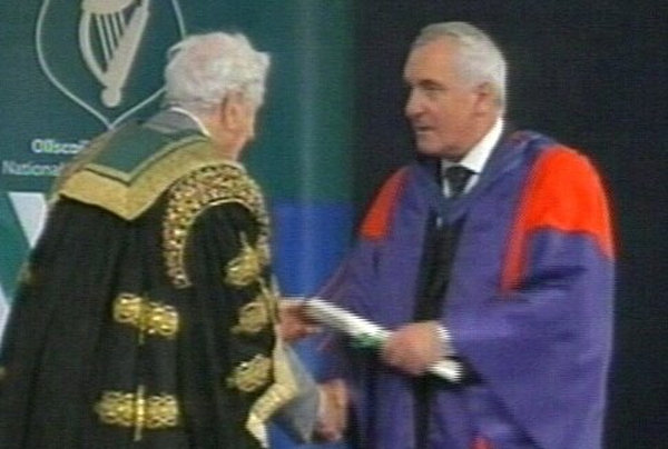 Bertie Ahern - Tension reported with McDowell