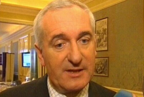 Bertie Ahern - Apology did cover decision