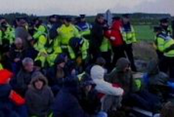 Gas terminal site - Arrests made