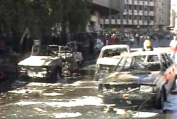 Baghdad - Double car bomb attack