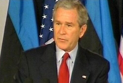 President Bush - 'Further sacrifices ahead'