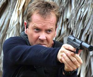Kiefer looks like he wants to keep being Jack Bauer