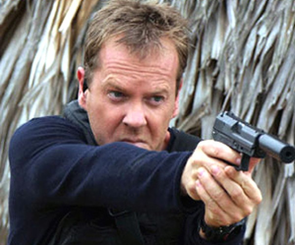 Kiefer looks like he wants to keep being Jack Bauer