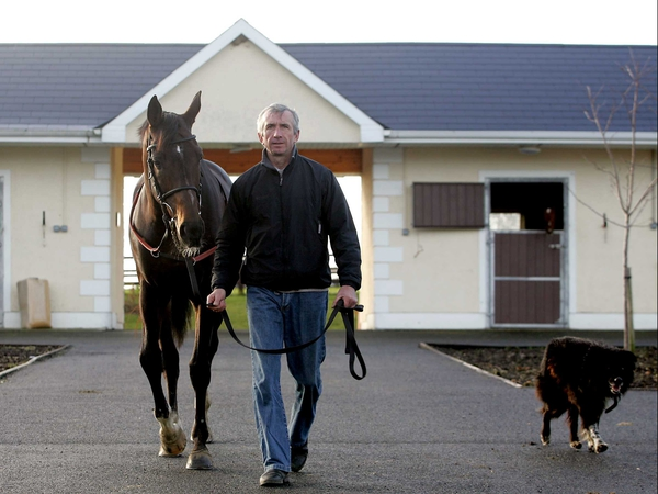Trainer Martin Brassil with Nickname