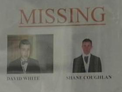 Missing men - Search called off for night
