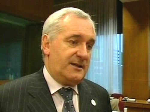 Bertie Ahern - Refused to be drawn on a date