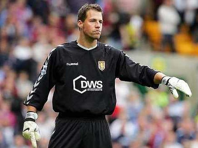 Former Aston Villa keeper Thomas Sorensen was the hero for Stoke