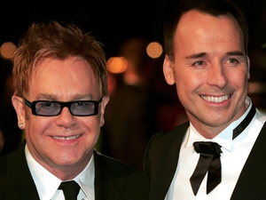 Elton John with husband David Furnish.