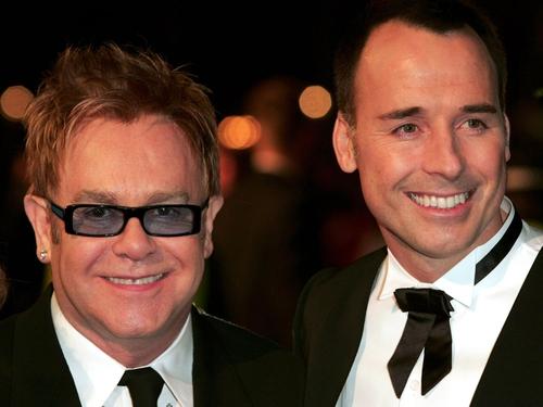 Elton John with husband David Furnish.