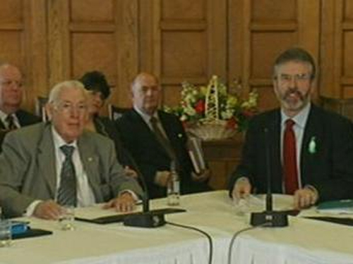 Ian Paisley & Gerry Adams - Stormont meeting