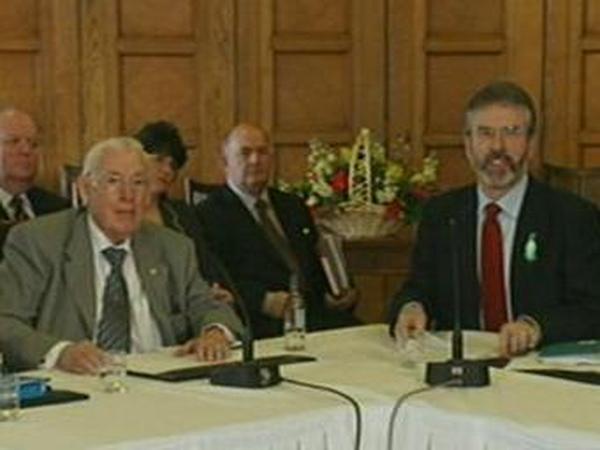Ian Paisley & Gerry Adams - Stormont meeting
