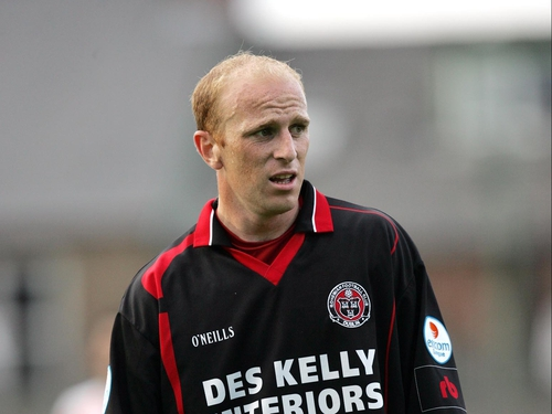 Thomas Heary was part of the Bohs defence that witheld Derry City tonight
