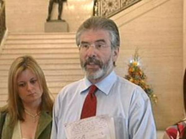 Gerry Adams - Four key areas for Sinn Fein